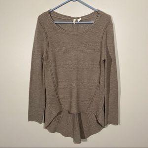 Anthropologie Moth Wool Sweater High Low M